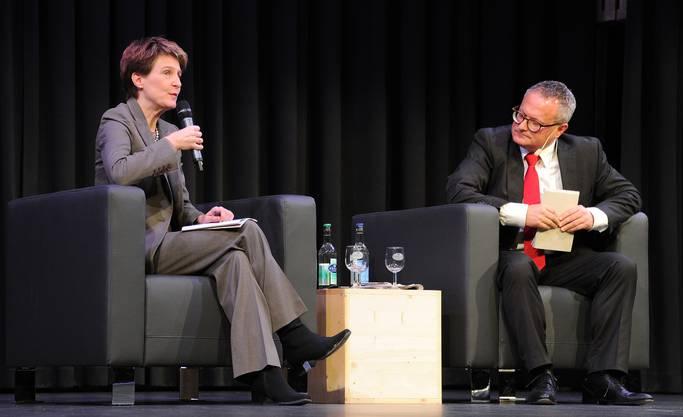 Simonetta Sommaruga im Gespräch mit Werner de Schepper