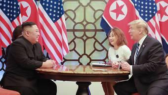 Wollen laut Angaben aus Nordkorea weiter über Abrüstung diskutieren: Nordkoreas Machthaber Kim Jong Un und US-Präsident Donald Trump.