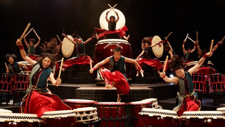 Die japanischen Trommler sind seit über 20 Jahren weltweit auf Tour.