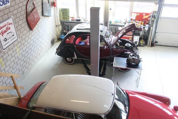 In der Garage von Marc Zumbühl..