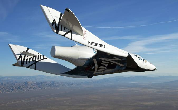 Das Raumflugzeug absolvierte einen Testflug über der Mojawe-Wüste. (Archiv)