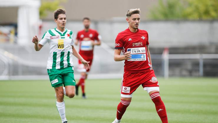 Rajmond Laski (r.) im Hinspiel gegen den FC Red Star, damals gewann Baden 3:1. Auch heute gelang ihnen der Sieg.