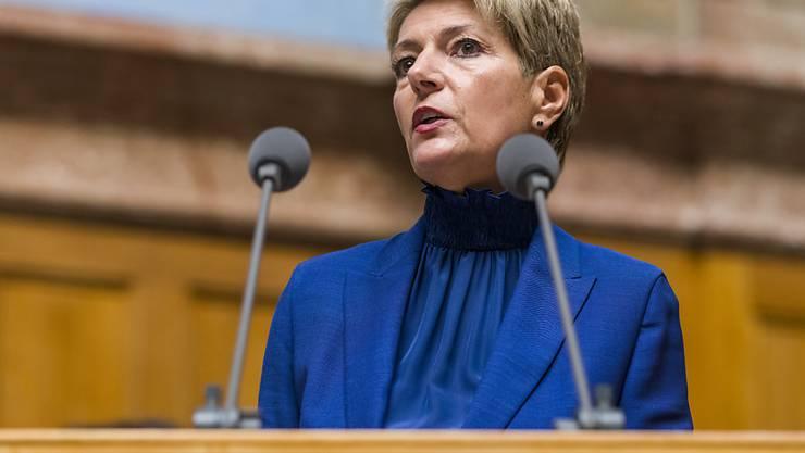 Die E-ID bleibt umstritten: Justizministerin Karin Keller-Sutter warb im Nationalrat erfolglos für Kompromisse.