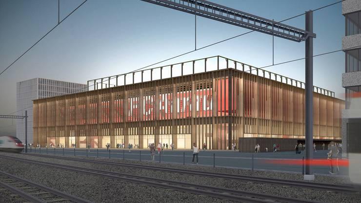 So soll das Aarauer Stadion dereinst aussehen. (Visualisierung)