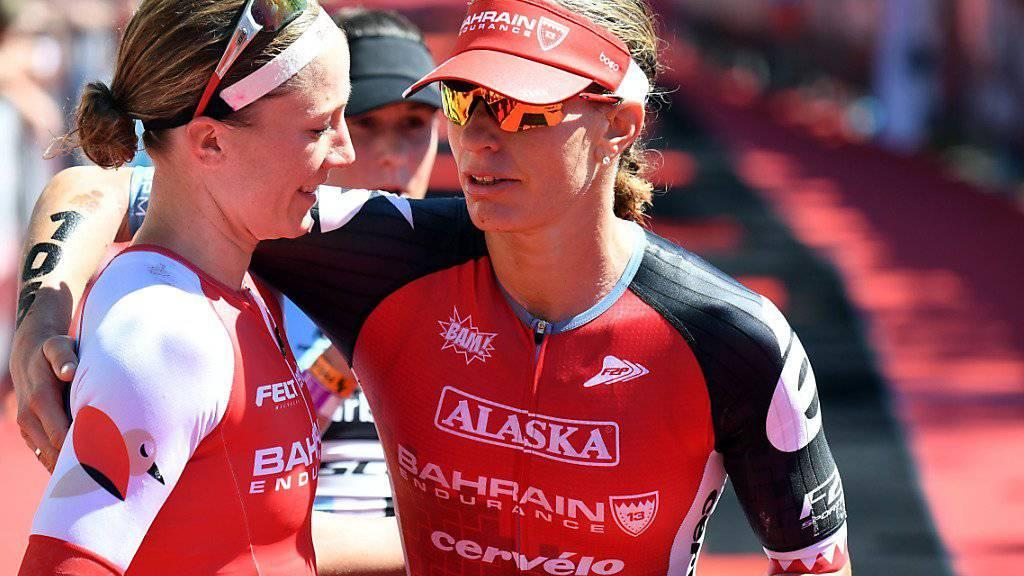 Caroline Steffen (rechts) erreichte Rang 2 an der ITU-Langdistanz-WM