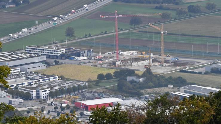 Das neu überbaute Bell-Areal Holinden in Oensingen.