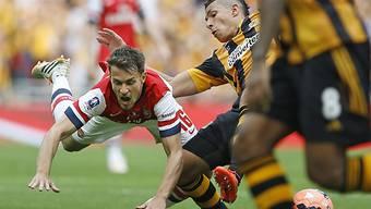 Aaron Ramsey (l.) avancierte zum Matchwinner für die Gunners