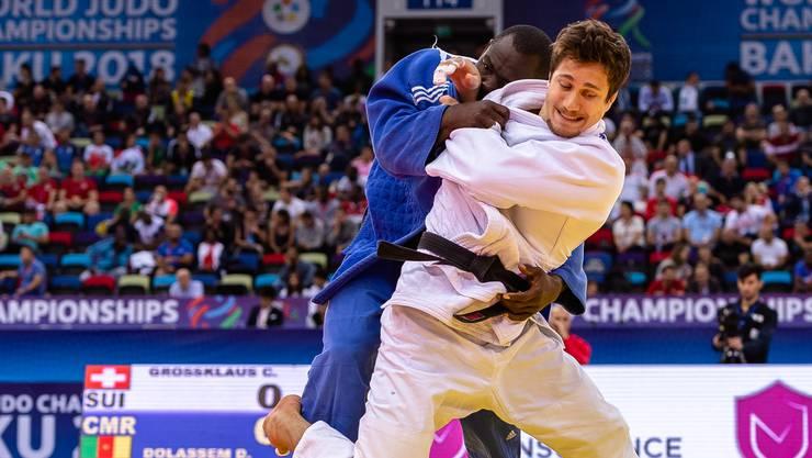 Sechste WM für den Brugger Judoka Ciril Grossklaus: In der ersten Runde bezwang er seinen Gegner aus Kamerun.