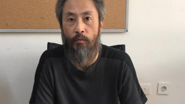 Gezeichnet von 40 Monaten in den Händen von Dschihadisten: Der japanische Journalist Jumpei Yasuda nach seiner Freilassung.