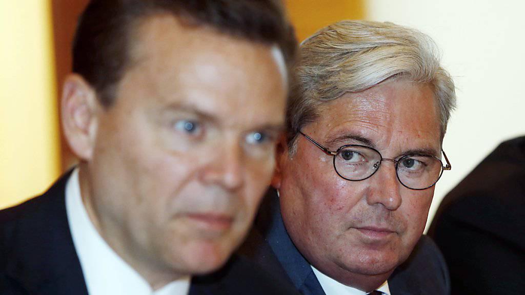 Hariolf Kottmann von Clariant (rechts) hätte Verwaltungsratspräsident des fusionierten Unternehmens werden sollen, Peter Huntsman neuer Konzernchef. Daraus wird nun nichts. (Archivbild)