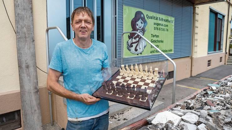 Befindet sich noch in der Bauphase: Ende August eröffnet Markus Wehner in der ehemaligen Stöcklimetzg sein Atelier für Kreationen aus Schokolade.