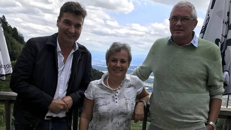 Klausur auf dem Bettlachberg mit (v. l.) François Scheidegger (Grenchen), Barbara Leibundgut (Bettlach) und Max Wolf (Lengnau).