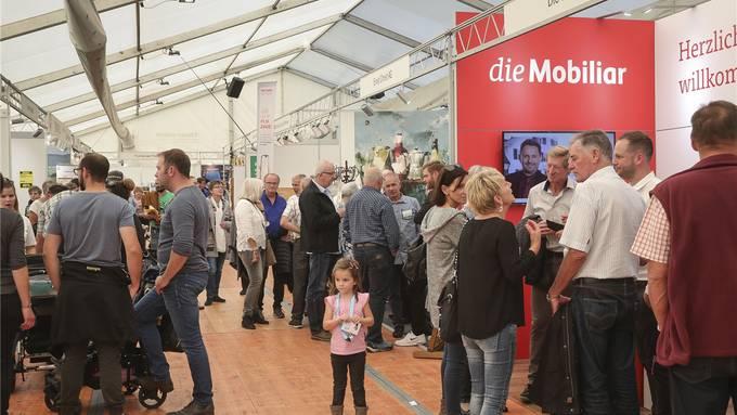 Die Gewerbeausstellung Thal zog Hunderte von Besucherinnen und Besucher aufs Areal rund um die Mehrzweckhalle Kreuzacker. Fotos: Patrick Lüthy