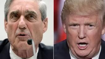 Sonderermittler Robert Mueller vs. US-Präsident Donald Trump.