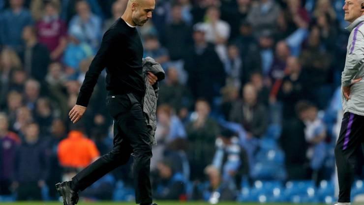 Wieder ein vorzeitiger Abgang in der Champions League: Pep Guardiola nach dem Out am Mittwoch gegen Tottenham