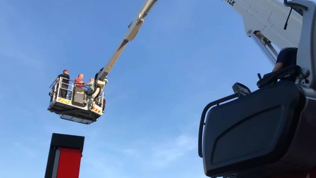 Storchen-Nachwuchs in Stetten: Anouk und Elin wurden beringt