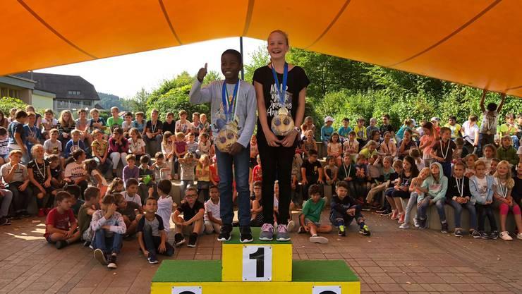 Siegerehrung  Schnelllauf 2018 in Gretzenbach