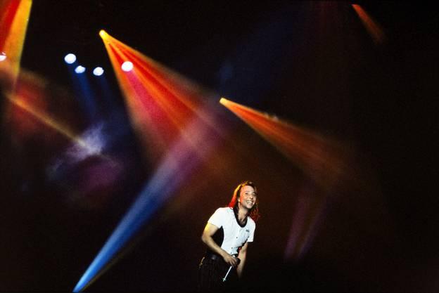 DJ Bobo 1994 auf der Bühne im Zürcher Hallenstadion.