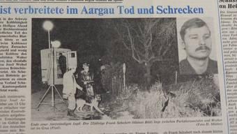 """Die Frontseite des """"Badener Tagblatts"""" vom 27. Dezember 1980 berichtet von den Morden des Rechtsextremisten Frank Schubert."""