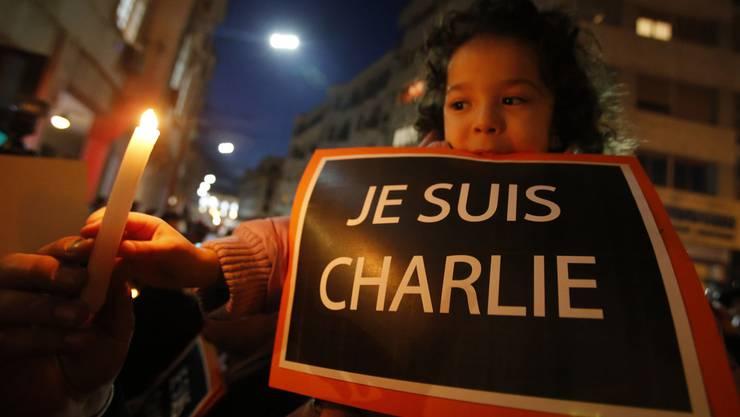 «Je suis Charlie»: Kundgebung in der marokkanischen Hauptstadt Rabat.