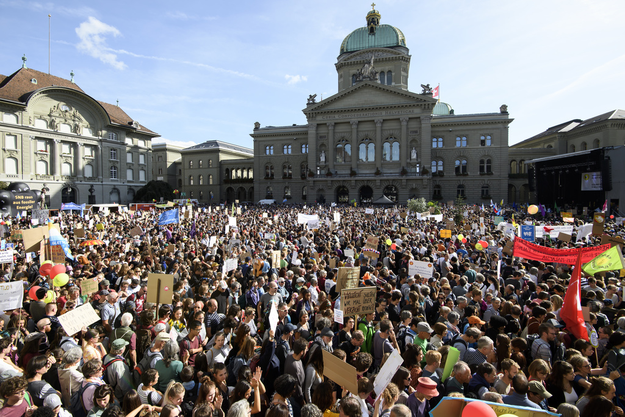 Nationale Klima-Demonstration vom 28. September 2019 vor dem Bundeshaus.