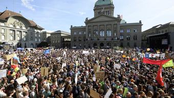 Verboten: Zurzeit darf in der Schweiz nicht demonstriert werden – auch nicht vor dem Bundeshaus.