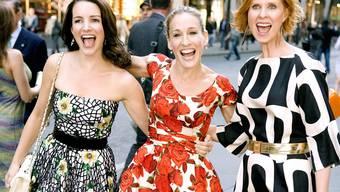 Und da waren es nur noch drei New Yorker Freundinnen: Kristin Davis, Sarah Jessica Parker und Cynthia Nixon sind bei den neuen Folgen wieder dabei.