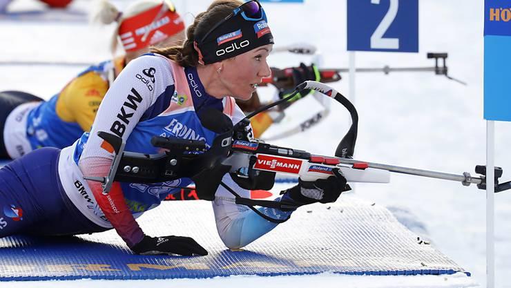 Selina Gasparin blieb im Liegend-Anschlag fehlerfrei.