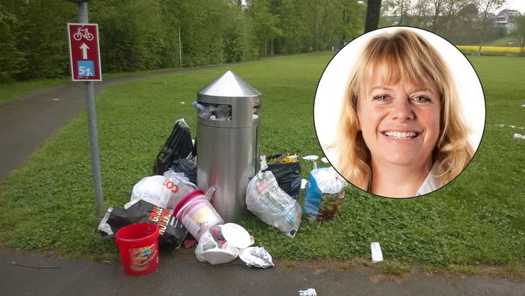 Charlotte Keller will gegen Abfallsünder vorgehen.