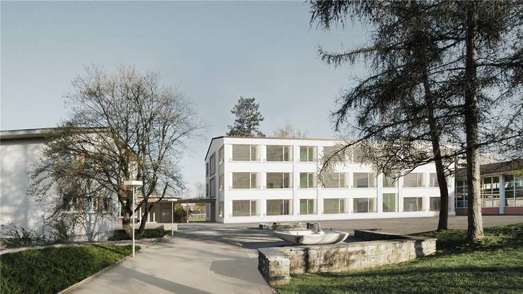 So hätte das neue Schulhaus aussehen sollen.