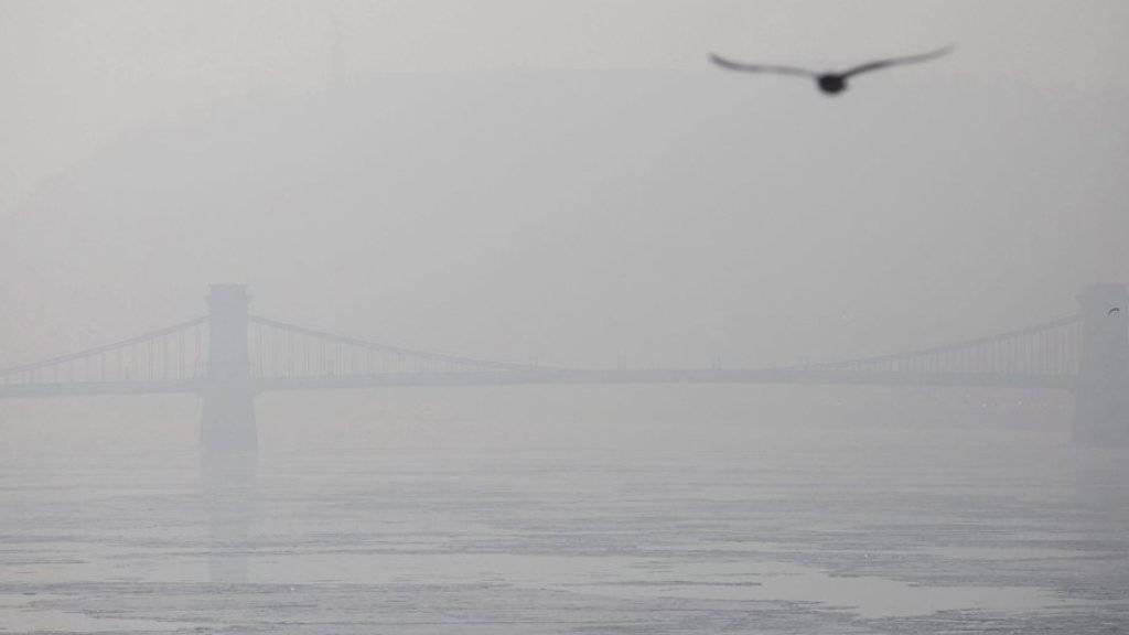 Budapest liegt unter dickem Smog.