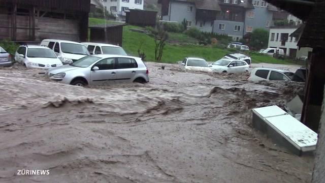 Wil in St. Gallen schwer vom Regen getroffen