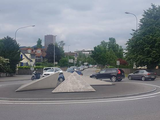 Verkehrszusammenbruch in Aarau.