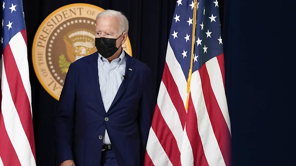 US-Präsident Joe Biden hält einen weiteren Terroranschlag vom IS für «sehr wahrscheinlich» Foto: Manuel Balce Ceneta/AP/dpa
