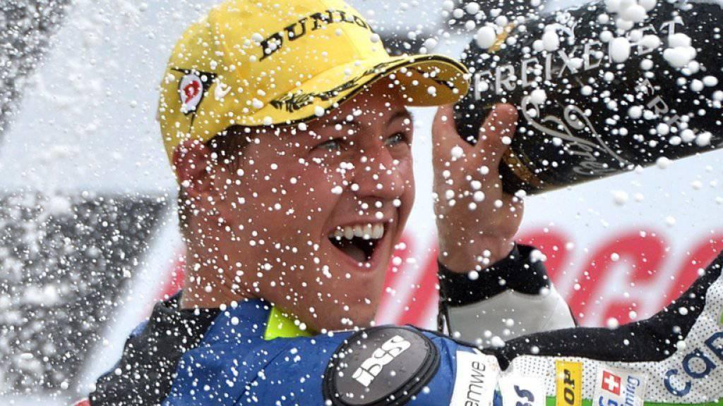 2014 feierte Aegerter seinen einzigen GP-Sieg - auf einer Suter-Maschine