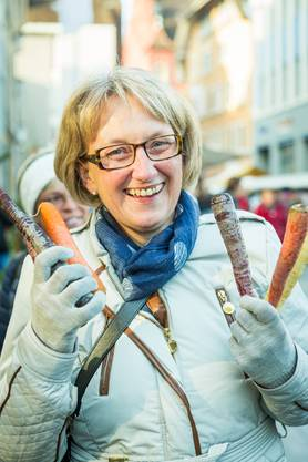 «Ich bin extra aus Bülach angereist und verbringe den Tag mit meinen Freundinnen am Märt. Er ist so schön dekoriert und die Atmosphäre ist einzigartig. Ich freue mich, die Rüebli in Variationen zu kochen.»