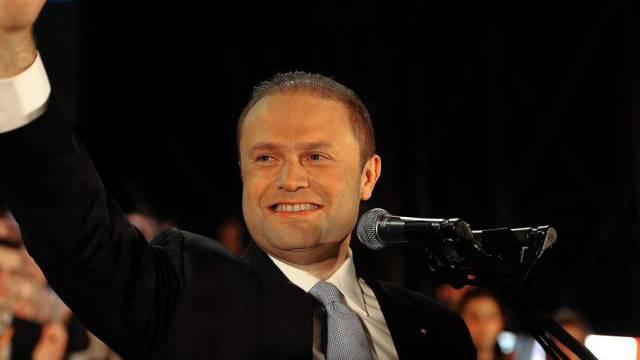 Maltas Premier Joseph Muscat nach seinem Wahlsieg im März