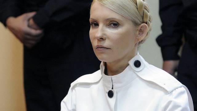 Die frühere Ministerpräsidentin Julia Timoschenko wurde am 11. Oktober 2011 zu einer siebenjährigen Haftstrafe verurteilt (Archiv)