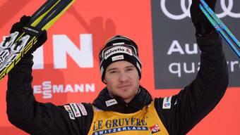 Dario Cologna durfte sich im Val di Fiemme über den 3. Gesamtrang an der Tour de Ski freuen.