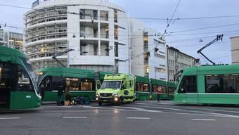 Unfall zwischen Velo und Tram