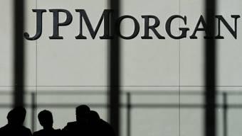 Logo der Bank JPMorgan Chase an ihrem Hauptsitz in New York