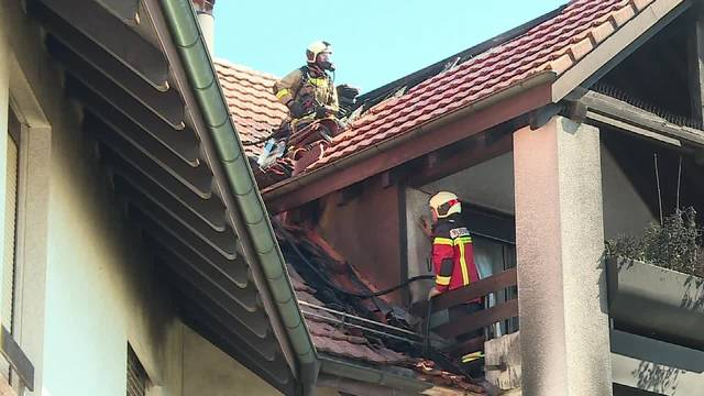 Balkonbrand in der Solothurner Weststadt
