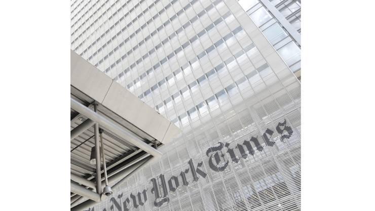 Hauptsitz der «Times »in New York: Die wohl wichtigste Zeitung der Welt steht in der Kritik.