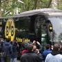 Borussia Dortmunds Spieler im Teambus wurden Ziel eines feigen Bombenanschlags