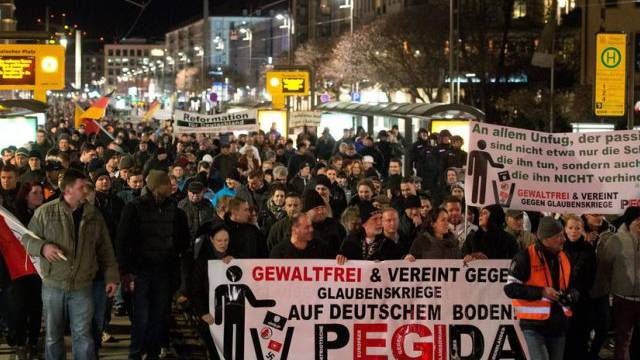 Pegida-Demonstration am 12. Januar in Dresden