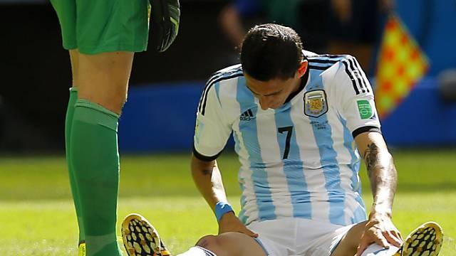 Angel di Maria verletzte sich im WM-Viertelfinal gegen Belgien