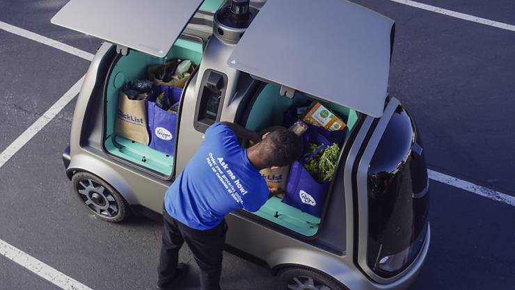 Die fahrerlosen Lieferfahrzeuge des Jungunternehmens Nuro können nun im Silicon Valley getestet werden. (Archiv)
