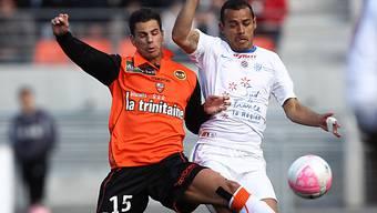 Aliadiere (links) mit Siegtreffer für Lorient.