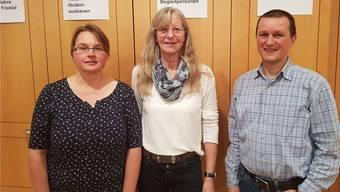 Das Leitungsteam der Regionalgruppe Fricktal (v.l.): Jocelyne Kilchoer, Regula Kläusler und Dan Breda; es fehlt Sandra Ackermann.