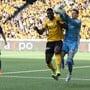 Die Young Boys gegen Basel: Jean-Pierre Nsame gegen Jonas Omlin.